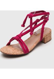 Sandália Dafiti Shoes Amarração Pink