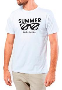 Camiseta Masculina Sandro Clothing Glasses Branca