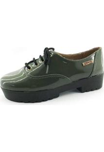 Tênis Tratorado Quality Shoes Feminino 005 Verniz Verde Musgo 38