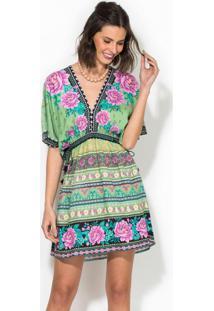 Vestido Curto Flori Verde
