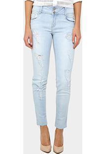 Calça Jeans Skinny Morena Rosa Isabelli Cintura Média Feminina - Feminino