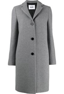 Msgm Trench Coat Clássico - Cinza