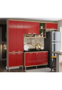 Cozinha Completa Iporá 9 Pt 3 Gv Argila E Vermelho