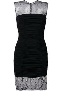 Balmain Vestido Com Aplicações - Preto