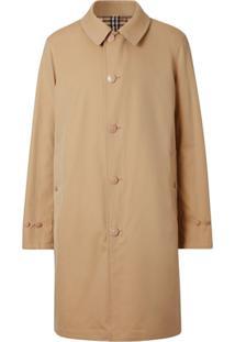 Burberry Trench Coat Dupla Face Com Xadrez Vintage - Neutro