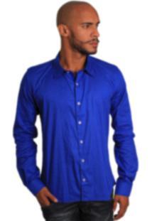 Camisa Social Joss Colors Azul