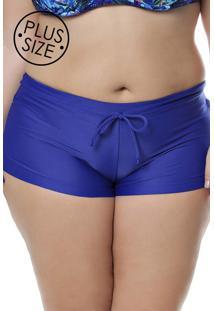 Calcinha Shorts Acqua Rosa Azul - Kanui