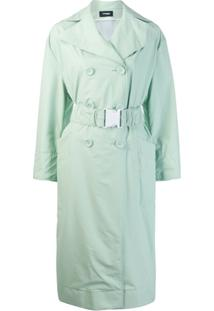 Kwaidan Editions Oversized Belt Trench Coat - Verde
