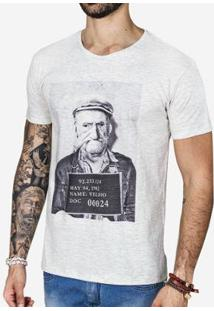 Camiseta Hermoso Compadre Mug Shot Masculina - Masculino