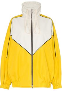 Plan C Jaqueta Color Block Com Zíper - Amarelo