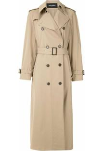 Dolce & Gabbana Trench Coat Longo - Neutro
