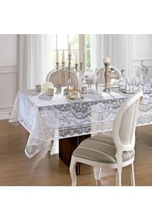 Toalha De Mesa Retangular Dinner Branca (155X300)