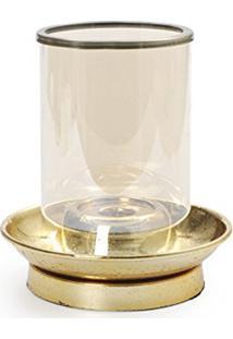 Emirates Porta Vela Em Metal Ouro 18 X 10 Cm Dourado