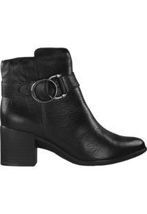 Bota Feminina Bottero Ankle Boot Preto - 38