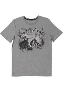 Camiseta Tassa Cinza Claro