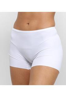 Calcinha Sloggi Boxer Cintura Alta - Feminino-Branco