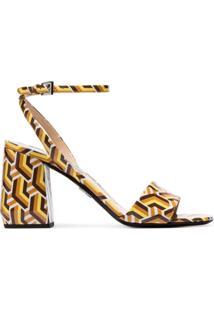 Prada Sandália Estampada '85 Twist' - Amarelo
