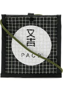 Pace Shoulder Bagzinha Em Algodão - Preto