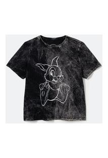Camiseta T-Shirt Marmorizada Silk Tambor Preto