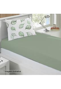 Jogo De Cama Basic Cipestre Solteiro- Verde & Brancobuettner