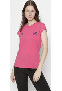 "Blusa ""3"" - Pink & Azul Marinhoclub Polo Collection"