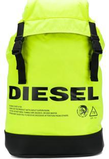 Diesel Neon Logo Warning Backpack - Amarelo