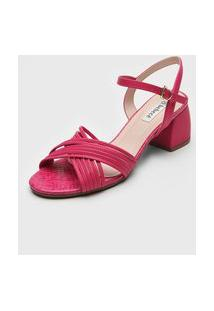 Sandália Bebecê Transpasse Pink