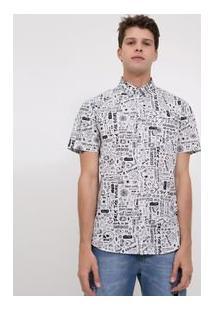 Camisa Estampada Em Tricoline