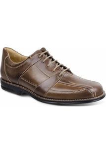 Sapato Social Masculino Conforto Sandro Moscoloni New Joe Marrom Claro