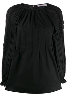 See By Chloé Perforated Sleeve Blouse - Preto
