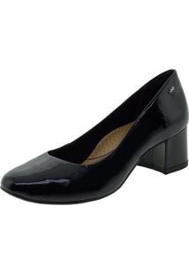 Sapato Feminino Salto Baixo Dakota - G0231 Verniz/Preto