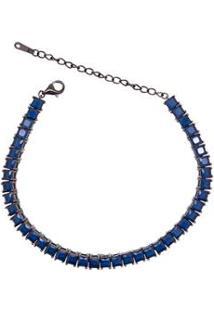 Pulseira Riviera Giullia Ferraz Safira Negro Feminino - Feminino-Azul Escuro