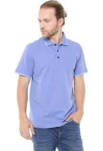 Camisa Polo John John Reta Lines Azul