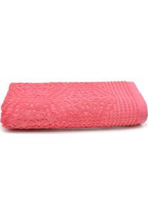 Toalha De Banho Santista Felpuda Lace 70X135Cm Rosa