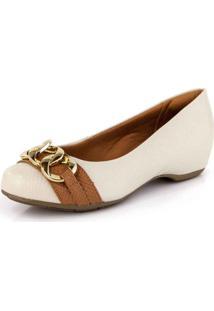 Sapato Conforto Corrente Verniz Porcelana Renda - Kanui