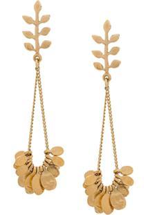 Isabel Marant Étoile Leaf Drop Earrings - Dourado