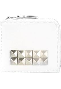 Comme Des Garçons Wallet Carteira Modelo 'Studs' - Branco
