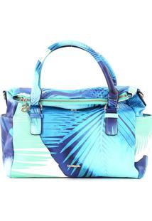 Bolsa Desigual Color Block Azul/Off-White