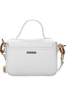 Bolsa Loucos & Santos Mini Bag Elos Tartaruga Feminina - Feminino-Branco