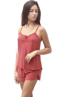 Baby Doll E Short Doll Estigma Moda Tradicional Poã¡ Vermelho - Vermelho - Feminino - Dafiti