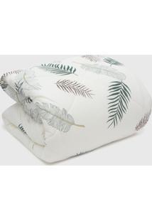 Edredom Casal Naturalle Fashion Jungle Malha Penteada Off-White - Off White - Dafiti