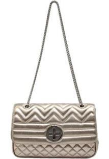 Bolsa Griffazzi Chanel Festa - Feminino-Prata
