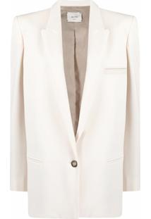 Alysi Long-Length Single-Button Blazer - Neutro