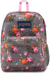 Mochila Jansport Digibreak Sunrise Bouquet - Unissex-Cinza+Pink