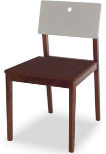 Cadeira Flip Cor Cacau Com Encosto Branco - 30838 - Sun House