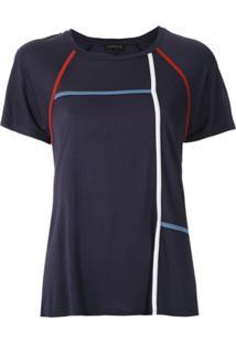 Alcaçuz Blusa Napoleão Com Recortes - Azul