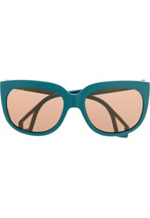 Gucci Eyewear Óculos De Sol Com Proteção Lateral - Azul
