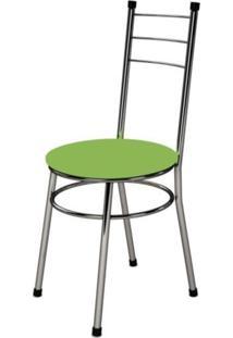 Cadeira Baixa 0.236 Redonda Cromado/Verde - Marcheli
