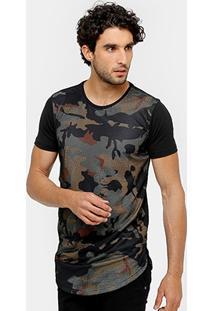 Camiseta Local Long Tela Camuflada Masculina - Masculino