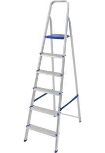 Escada Alumínio 6 Degraus - Unissex